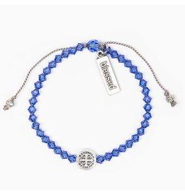 My Saint My Hero Birthday Blessing Bracelet September - Silver