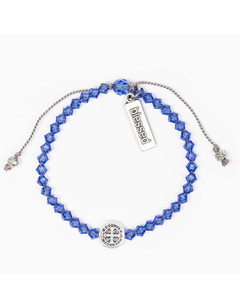 Birthday Blessing Bracelet September - Silver