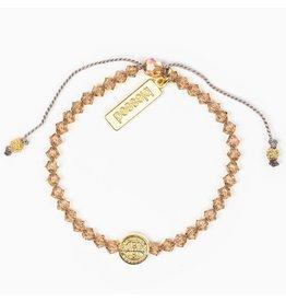 My Saint My Hero Birthday Blessing Bracelet November - Gold
