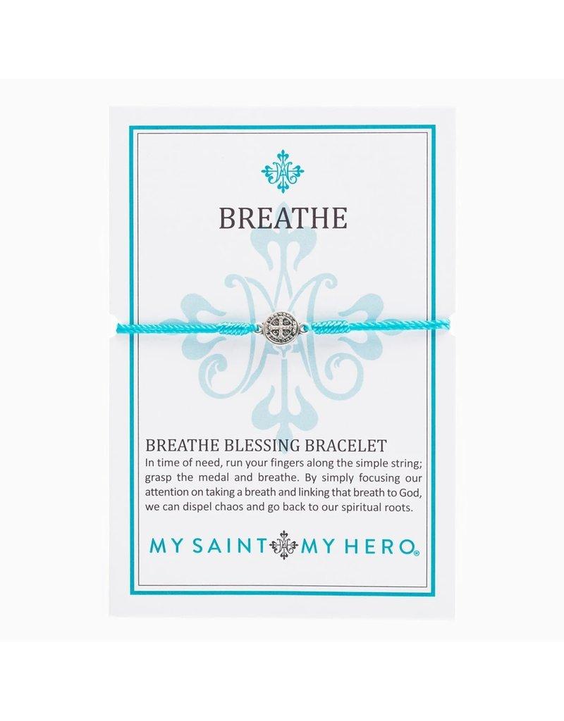 My Saint My Hero Breathe Bracelet Silver Silver/Turquoise