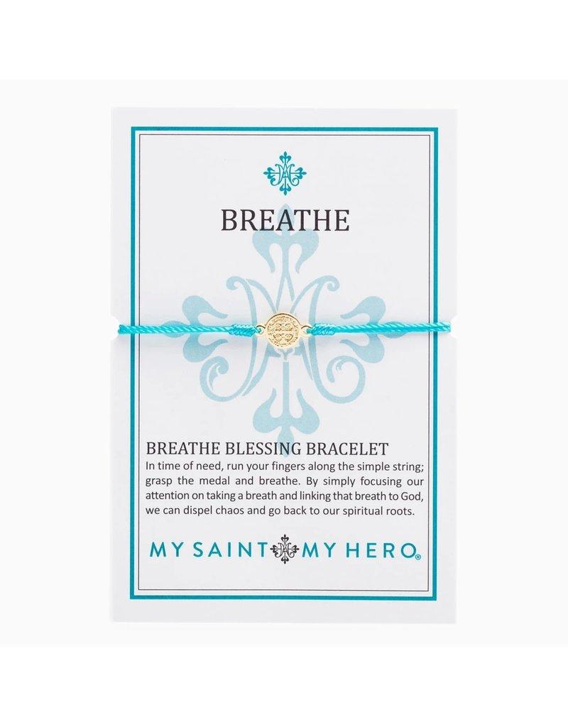 My Saint My Hero Breathe Bracelet Gold Gold/Turquoise
