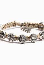 Blessing Bracelet Silver Silver/Tan