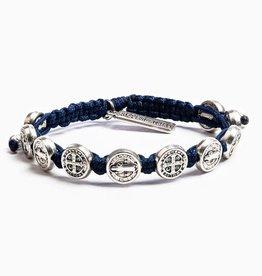 Blessing Bracelet Silver Silver/Navy