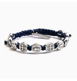 My Saint My Hero Blessing Bracelet Silver/Navy