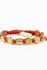Blessing Bracelet Gold Gold/Coral