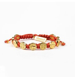 My Saint My Hero Blessing Bracelet Gold/Coral