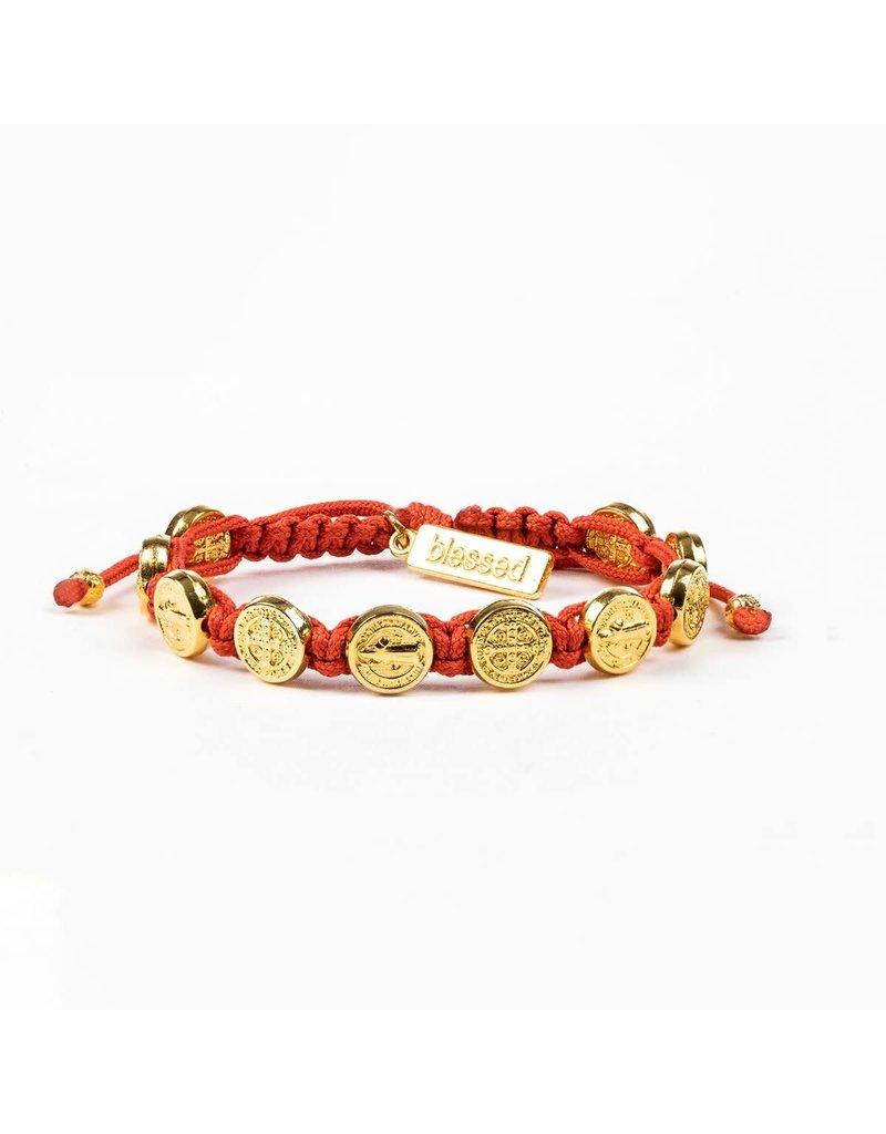 My Saint My Hero Blessing Bracelet Gold/Coral