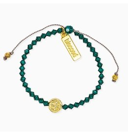 My Saint My Hero Birthday Blessing Bracelet May - Gold