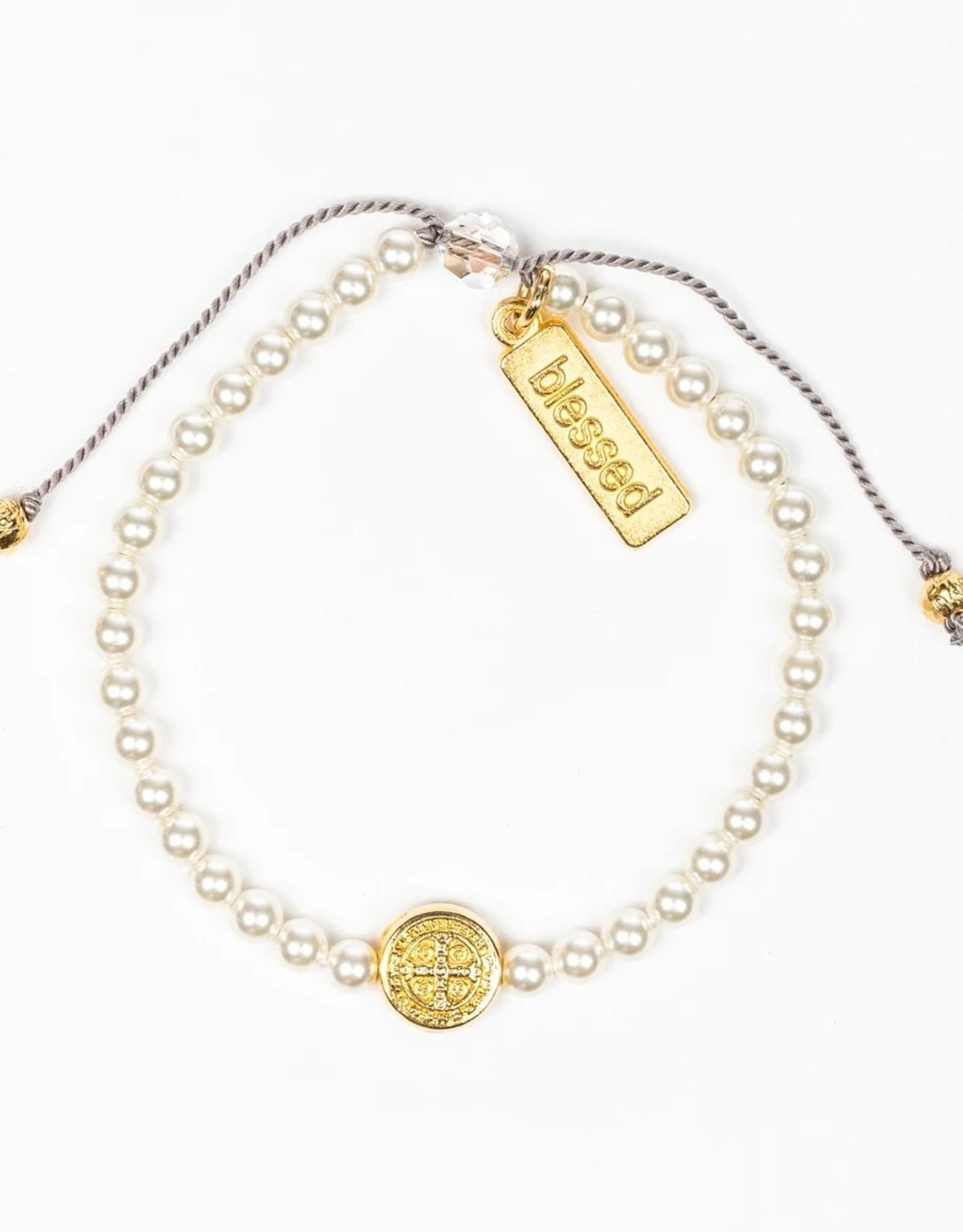 Birthday Blessing Bracelet June - Gold