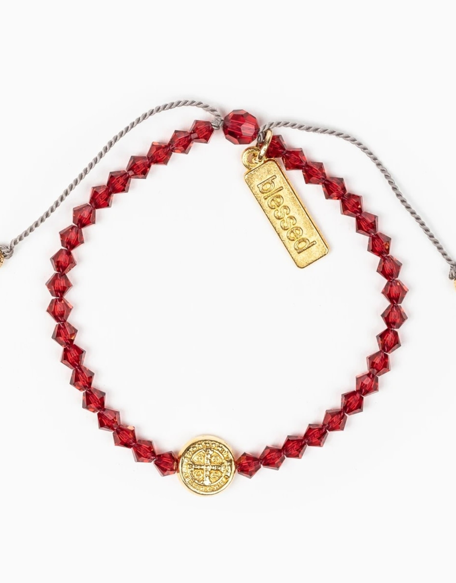 Birthday Blessing Bracelet July - Gold