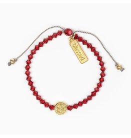My Saint My Hero Birthday Blessing Bracelet July - Gold