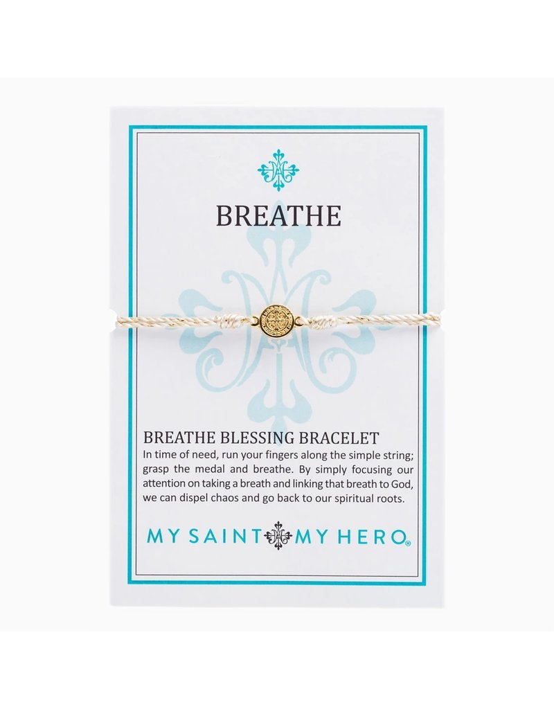 My Saint My Hero Breathe Bracelet Gold Gold/Gold