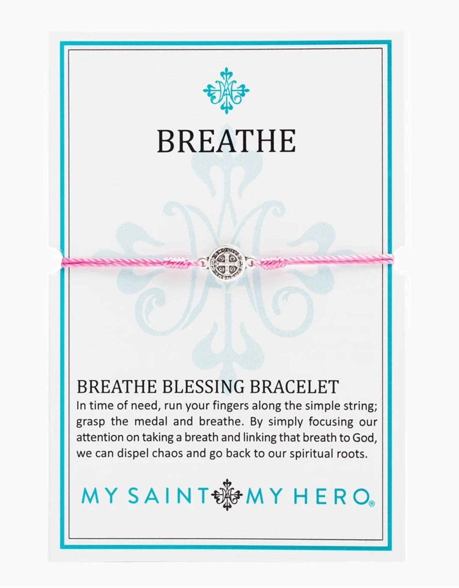 Breathe Bracelet Silver Silver/Pink
