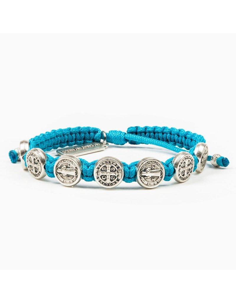 My Saint My Hero Blessing Bracelet Silver/Turquoise