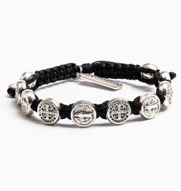 Blessing Bracelet Silver Silver/Black