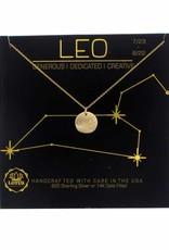 Lotus Jewelry Gold Zodiac Necklace Leo