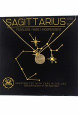 Lotus Jewelry Gold Zodiac Necklace Sagittarius