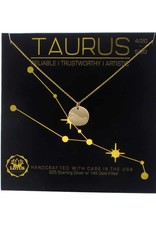 Lotus Jewelry Gold Zodiac Necklace Taurus