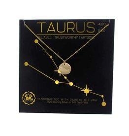Lotus Jewelry Gold Zodiac Necklace Taurus