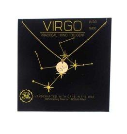 Lotus Jewelry Gold Zodiac Necklace Virgo