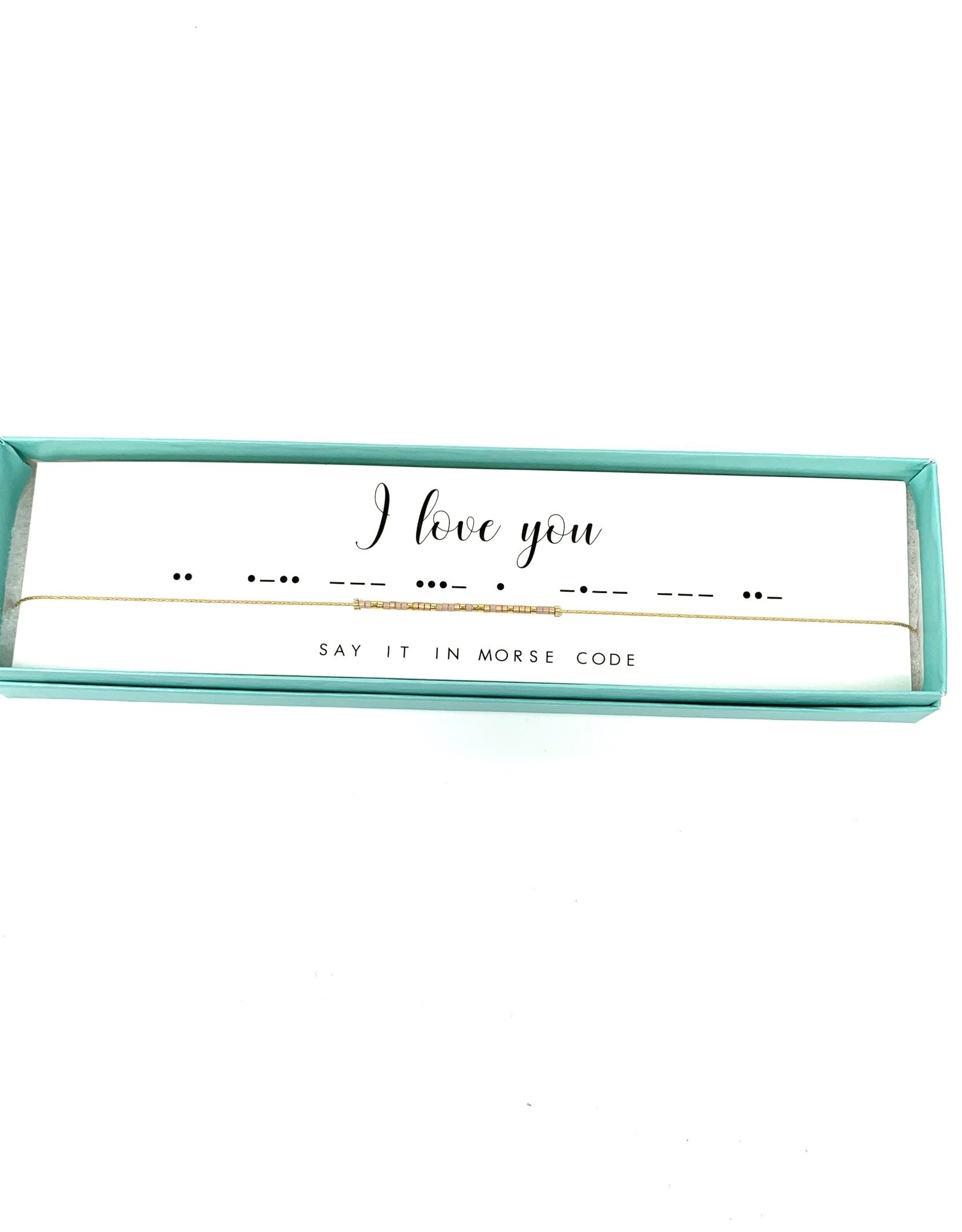 Morse Code Necklace I Love You
