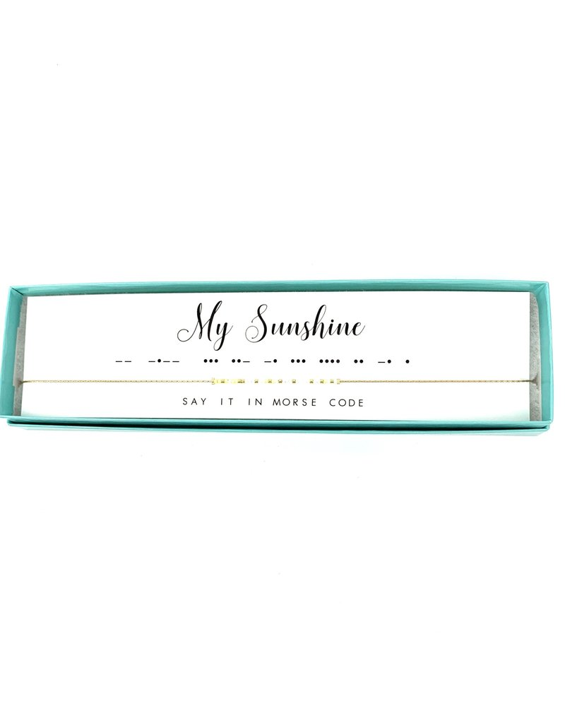 Morse Code Necklace My Sunshine
