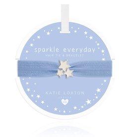 Katie Loxton Children's Hair Tie Bracelet Sparkle Everyday Stardust Blue