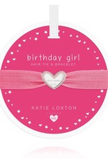 Katie Loxton Children's Hair Tie Bracelet Birthday Girl Pink