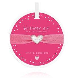 Katie Loxton Children's Hair Tie Bracelet Birthday Girl Pink