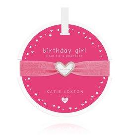 Katie Loxton Katie Loxton Children's Hair Tie Bracelet Birthday Girl Pink