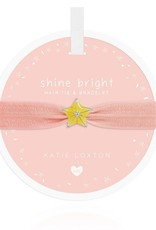 Katie Loxton Children's Hair Tie Bracelet Shine  Bright Star Pale Peach