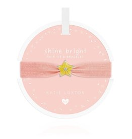 Katie Loxton Katie Loxton Children's Hair Tie Bracelet Shine  Bright Star Pale Peach