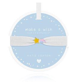 Katie Loxton Children's Hair Tie Bracelet Make A Wish Shooting Star White