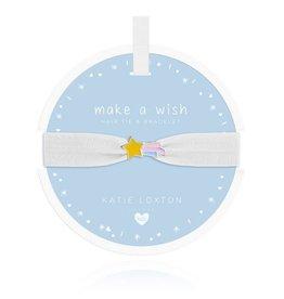 Katie Loxton Katie Loxton Children's Hair Tie Bracelet Make A Wish Shooting Star White