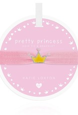 Katie Loxton Children's Hair Tie Bracelet Pretty Princess Crown Pale Pink