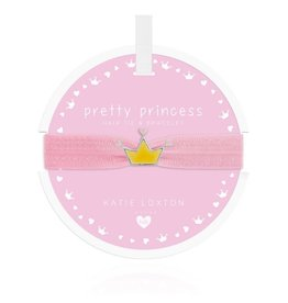 Katie Loxton Katie Loxton Children's Hair Tie Bracelet Pretty Princess Crown Pale Pink