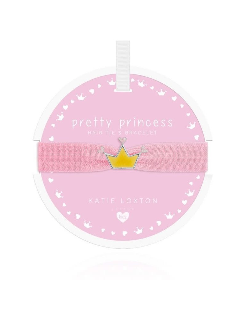 Katie Loxton Katie Loxton Children's Hair Tie Bracelet Pretty Princess Crown Pale Pink