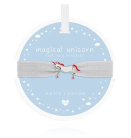 Katie Loxton Children's Hair Tie Bracelet Magical Unicorn White