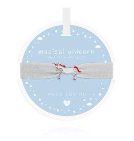 Katie Loxton Katie Loxton Children's Hair Tie Bracelet Magical Unicorn White