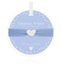 Katie Loxton Children's Hair Tie Bracelet Fabulous Friend Heart Blue