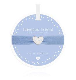Katie Loxton Katie Loxton Children's Hair Tie Bracelet Fabulous Friend Heart Blue