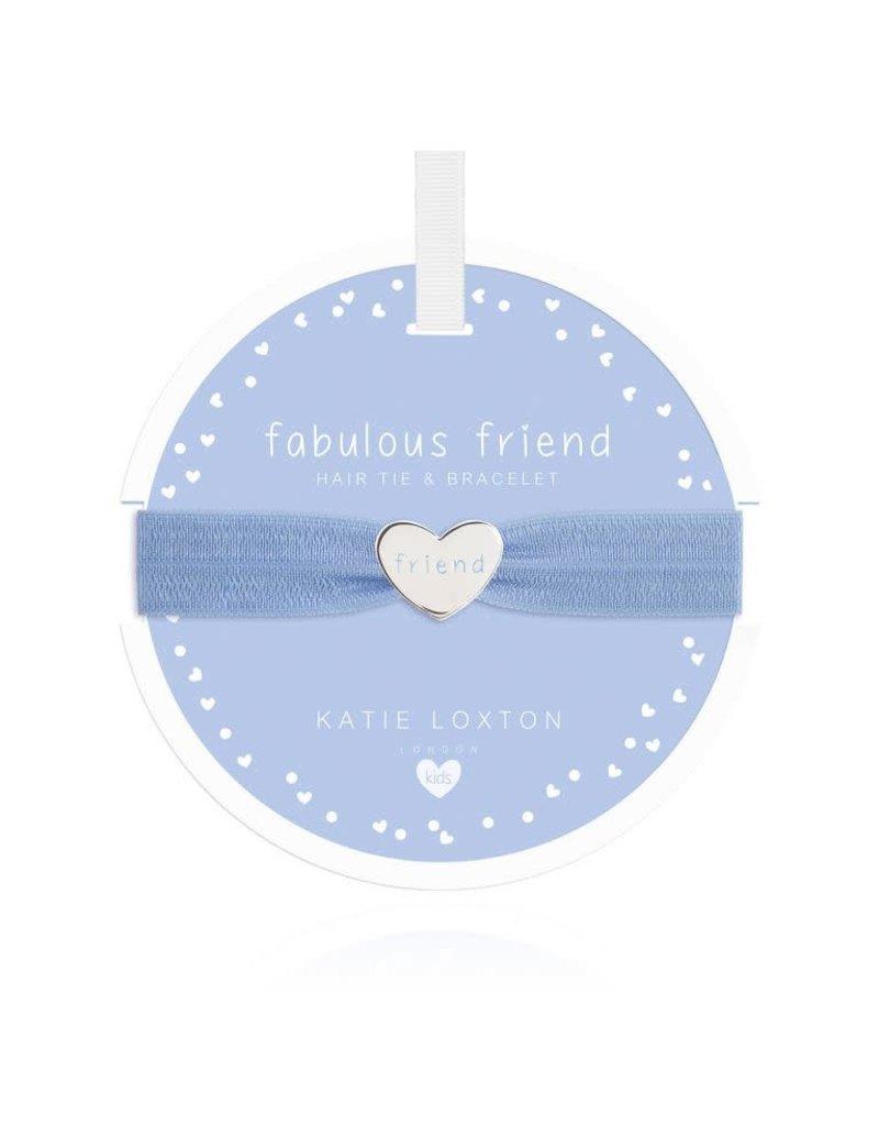 Katie Loxton Katie Loxton Children's Hair Tie Bracelet- Fabulous Friend Heart Blue