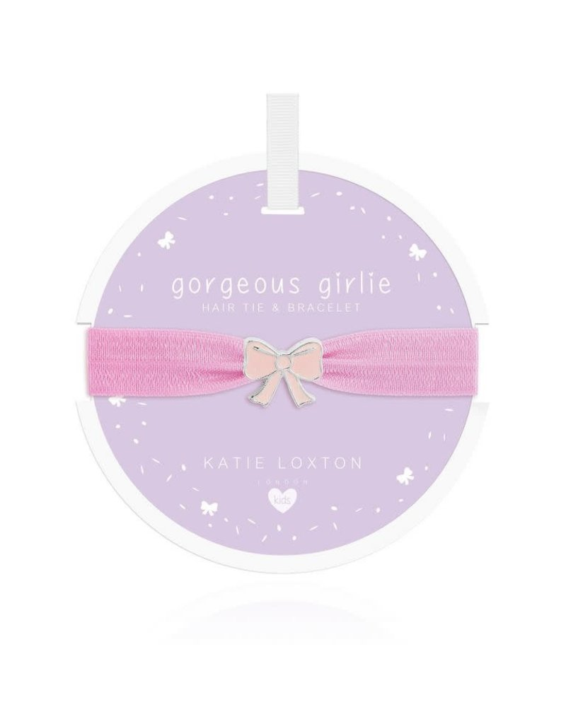 Katie Loxton Katie Loxton Children's Hair Tie Bracelet Gorgeous Girlie Bow Lilac