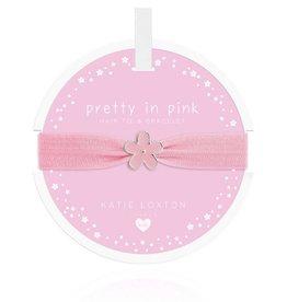 Katie Loxton Children's Hair Tie Bracelet Pretty in Pink Flower Pale Pink