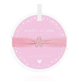 Katie Loxton Katie Loxton Children's Hair Tie Bracelet Pretty in Pink Flower Pale Pink