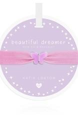 Katie Loxton Children's Hair Tie Bracelet Beautiful Dreamer Butterfly Lilac