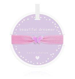 Katie Loxton Katie Loxton Children's Hair Tie Bracelet Beautiful Dreamer Butterfly Lilac