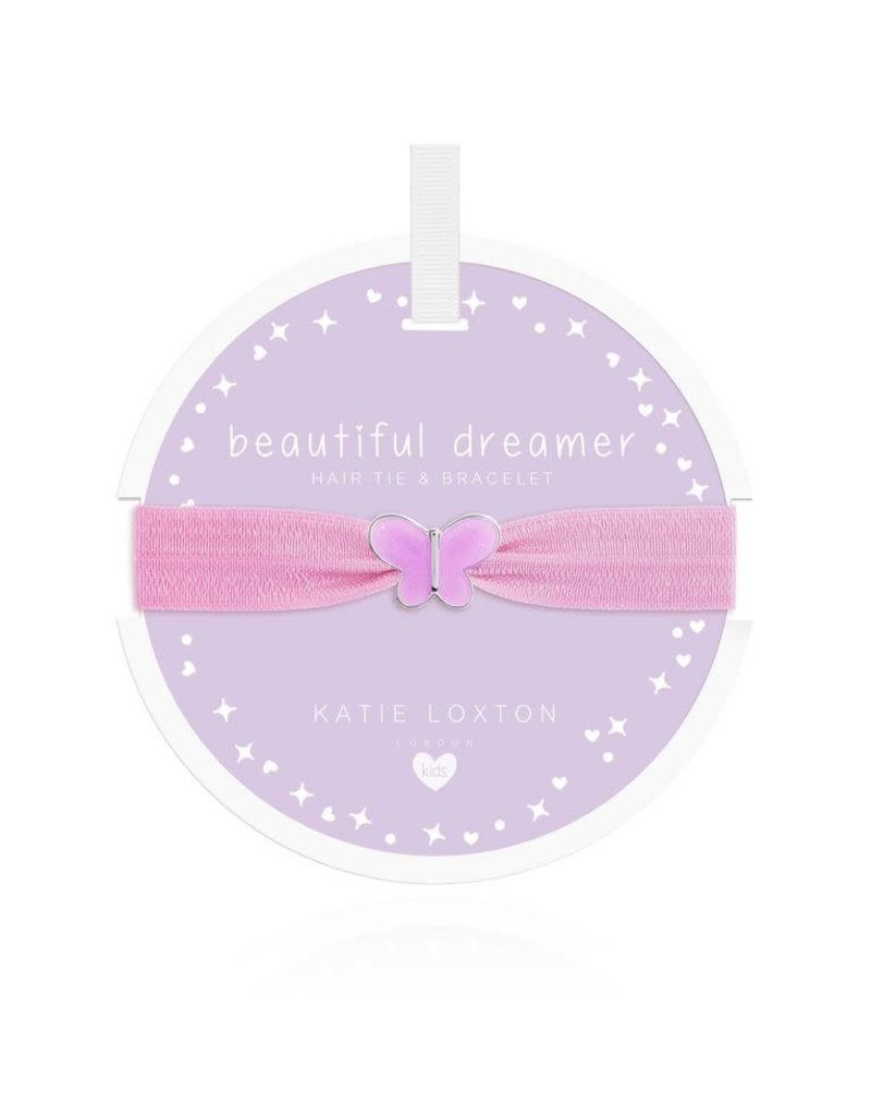 Katie Loxton Katie Loxton Children's Hair Tie Bracelet Beautiful Dreamer Butterfly Lilac