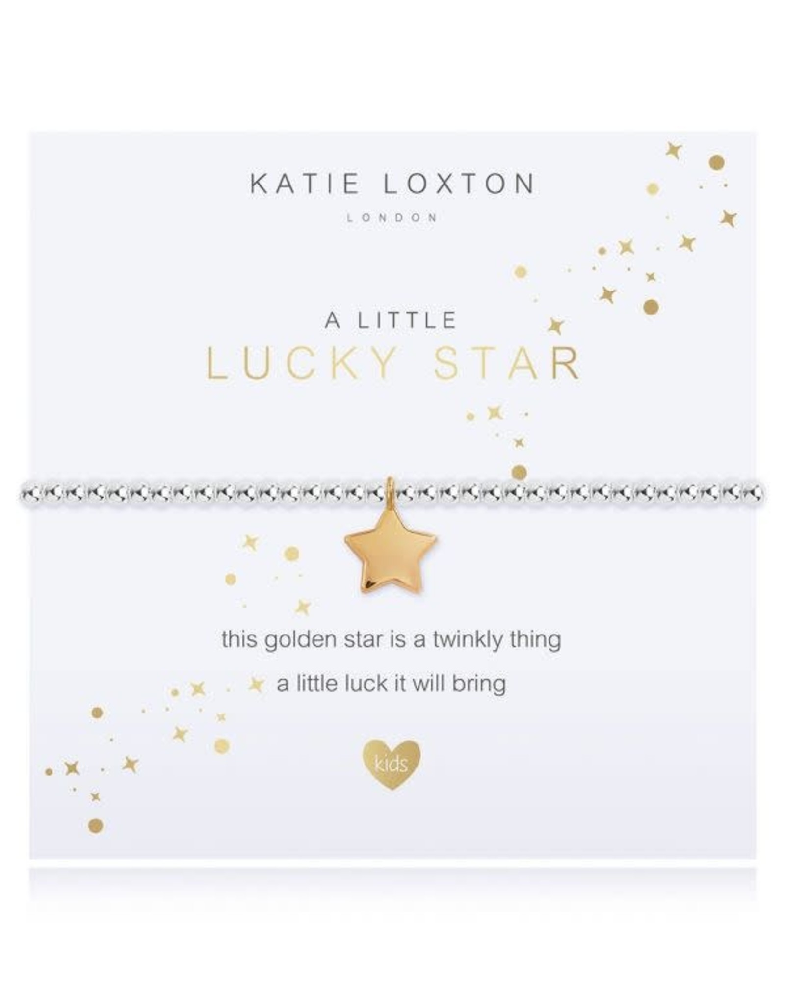 Katie Loxton Child's Beaded Bracelet Lucky Star