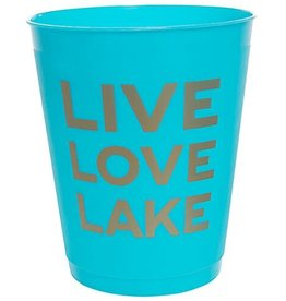 Slant Party Cups- Live,Love,Lake